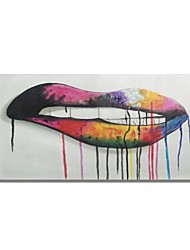 cheap -STYLEDECOR Modern Hand Painted Abstract Big Colour Lip on Canvas Oil Painting for Wall Art
