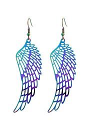 abordables -Mujer Pendientes colgantes - Acero inoxidable Tatuaje, Colorido, Hippie Arco Iris Para Regalo / Trabajo