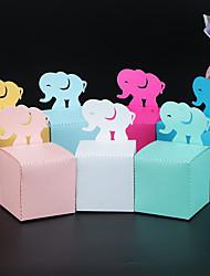 Недорогие -Кубический Розовая бумага Фавор держатель с В виде сердца Подарочные коробки - 50 шт