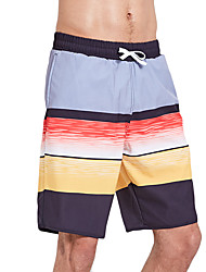 cheap -SBART Men's Swim Shorts Waterproof, Quick Dry, Wearable Polyester / Spandex Swimwear Beach Wear Board Shorts Stripe Surfing / Beach / Stretchy / Breathable / Breathable
