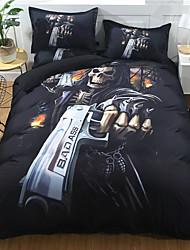 Недорогие -наборы для одеяла на одежде Хэллоуина мультфильм поли / хлопок / полистирол реактивная печать 3 шт.