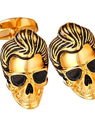 cheap -Silver / Golden Cufflinks Copper Skull Formal Men's Costume Jewelry For Gift / Daily