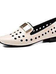 abordables -Femme Chaussures Cuir Nappa Printemps Confort Mocassins et Chaussons+D6148 Talon Bottier Violet / Rose
