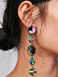 cheap -Women's Long Drop Earrings - Blessed Vintage, Bohemian, Korean Blue / Pink / Black / White For Party / Evening / Formal