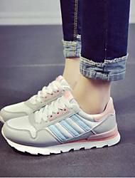 cheap -Women's Shoes PU(Polyurethane) Summer Comfort Athletic Shoes Flat Heel Round Toe Black / Gray / Light Purple