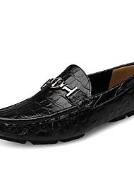 Недорогие -Муж. Комфортная обувь Кожа Лето Мокасины и Свитер Коричневый / Зеленый / Синий