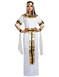 Недорогие -Египетские костюмы Костюм Жен. Взрослые Хэллоуин Хэллоуин Карнавал Маскарад Фестиваль / праздник Инвентарь Белый Однотонный Halloween