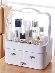 baratos -Cosmético / Maquiagem Organizador Plástico Armazenamento e Organização Multi funções Rectângular 1pç