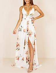 preiswerte -Damen Hülle Kleid Solide Maxi
