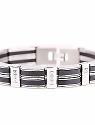cheap -Men's Stylish / Link / Chain Link Bracelet / Wide Bangle - Titanium Steel Creative Stylish, European, Hip-Hop Bracelet Silver For Daily / Street