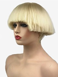 cheap -synthetic wig straight bob haircut synthetic hair synthetic black white wig women s short capless Halloween