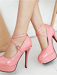 Недорогие -Жен. Полиуретан Весна Удобная обувь Обувь на каблуках На шпильке Белый / Черный / Розовый / Повседневные