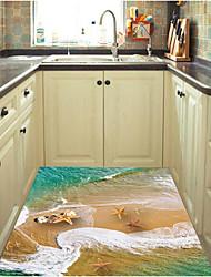 abordables -Autocollants de sol - Autocollants muraux 3D Paysage Salle de séjour / Chambre à coucher / Salle de bain