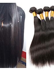 economico -Capello integro tessuto dei capelli Migliore qualità / Nuovo arrivo / vendita calda Liscio Brasiliano Lunghezza media 400 g 1 anno Da giorno / Ricevimento di matrimonio / Festa di 18 anni