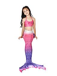abordables -La Petite Sirène Maillots de Bain Bikini Costume Fille Enfant Rétro Halloween Carnaval Fête / Célébration Déguisement d'Halloween Tenue Fuschia Sirène