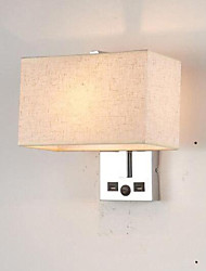preiswerte -Neues Design Modern / Zeitgenössisch Wandlampen Schlafzimmer / Studierzimmer / Büro Metall Wandleuchte 85-265V 40 W