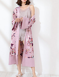 billige -Dame Dyb V Jakkesæt Pyjamas Blomstret