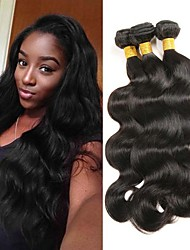 cheap -Malaysian Hair Body Wave Gifts / Cosplay Suits / Natural Color Hair Weaves 3 Bundles 8-28 inch Human Hair Weaves Soft / Hot Sale / Thick Natural Black Human Hair Extensions Women's