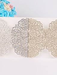 baratos -embrulho&convites de casamento de bolso 10 - cartões de convite não-tecido de papel