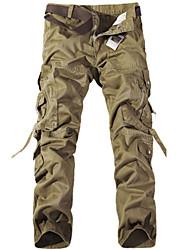 baratos -Homens Militar Calças de carga Calças - Sólido