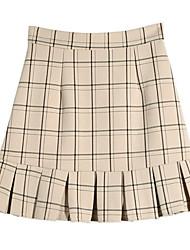 billige -Dame Basale A-linje Nederdele Stribet