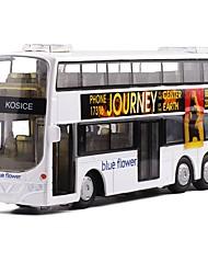 Недорогие -Игрушечные машинки Автобус Двухэтажный автобус Вид на город утонченный Металл Детские Для подростков Все Мальчики Девочки Игрушки Подарок 1 pcs