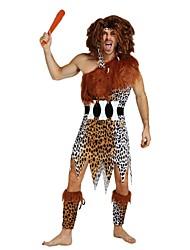 baratos -primitivo Roupa Homens Dia Das Bruxas / Carnaval / Dia da Criança Festival / Celebração Trajes da Noite das Bruxas Marron Sólido / Poá / Halloween Dia Das Bruxas