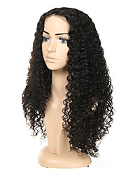 cheap -Human Hair Full Lace Wig Indian Hair Curly Wig Asymmetrical Haircut 130% / 150% / 180% Odor Free / Designers / Woven Black Women's Mid Length Human Hair Lace Wig / Human Hair Extensions / Fashion