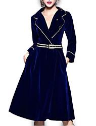 Недорогие -Жен. На выход Рубашка Платье Завышенная Воротник Питер Пен До колена