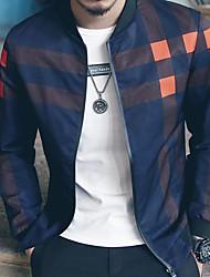 preiswerte -Herrn - Einfarbig Jacke, Ständer / Langarm