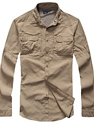 baratos -Homens Camisa de Trilha Ao ar livre Secagem Rápida, Vestível, Respirabilidade Camisa / Blusas Invisível Acampar e Caminhar / Exercicio Exterior / Multi-Esporte