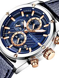 baratos -MINI FOCUS Mulheres Relógio Esportivo Japanês Calendário / Cronômetro / Noctilucente Couro Legitimo Banda Luxo / Casual Preta / Azul / Marrom