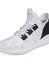 cheap -Men's Knit / Elastic Fabric Summer Comfort Athletic Shoes Running Shoes White / Black / Gray