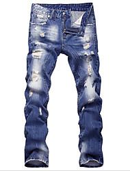 economico -Per uomo Taglia piccola Jeans Pantaloni - Tinta unita