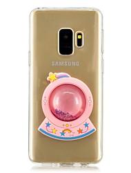 ieftine -Maska Pentru Samsung Galaxy S9 Plus / S9 Scurgere Lichid Capac Spate Desene Animate Moale TPU pentru S9 / S9 Plus / S8 Plus
