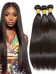 cheap -3 Bundles Malaysian Hair Wavy Human Hair Natural Color Hair Weaves / One Pack Solution / Human Hair Extensions 8-28 inch Human Hair Weaves Soft / Classic / Best Quality Natural Color Human Hair