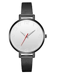 Недорогие -Geneva Жен. Наручные часы Китайский Новый дизайн / Повседневные часы / Cool сплав Группа На каждый день / Мода Черный / Серебристый металл / Один год