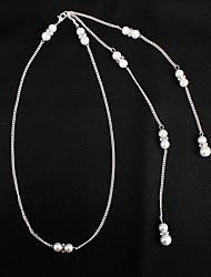 billige -Dame Lang Halskædevedhæng - Imiteret Perle Kreativ Stilfuld, Vintage Sølv 50 cm Halskæder 1pc Til Bryllup, Forlovelse