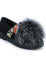 Недорогие -Жен. Обувь Полиуретан Наступила зима Удобная обувь Мокасины и Свитер На плоской подошве Лиловый / Желтый / Зеленый