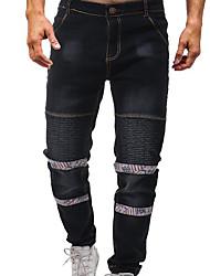 cheap -Men's Basic Jeans Pants - Solid Colored