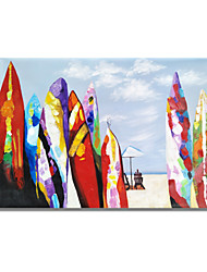cheap -STYLEDECOR Modern Hand Painted Abstract Color Surfboard Oil Painting on Canvas for Wall Art