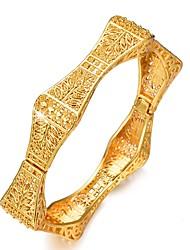 Недорогие -Жен. Скульптура Браслет цельное кольцо Браслет разомкнутое кольцо - Позолота Этнический Браслеты Золотой Назначение Для вечеринок Подарок