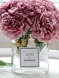 baratos -Flores artificiais 1 Ramo Solteiro (L150 cm x C200 cm) Estiloso Vaso Flor de Mesa