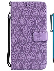 cheap -Case For Motorola MOTO G6 / Moto G6 Plus Wallet / Card Holder / with Stand Full Body Cases Flower Hard PU Leather for MOTO G6 / Moto G6 Plus / Moto E4 Plus