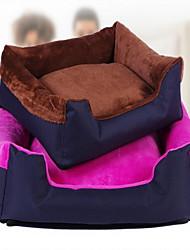 Недорогие -На каждый день Одежда для собак Кровати Контрастных цветов Коричневый / Синий / Розовый Собаки / Коты