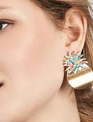 abordables -Femme Stylé Boucles d'oreille goujon Boucles d'Oreille - Ananas Branché, Romantique, Mode Rouge / Vert / Bleu Pour Ecole Plein Air
