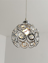 cheap -Modern Crystal Pendant Light Mini Style Electroplated Metal Living Room Bedroom Dining Room Kitchen Lighting