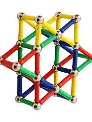 Недорогие -Магнитные палочки 84 pcs Креатив трансформируемый Взаимодействие родителей и детей Все Мальчики Девочки Игрушки Подарок