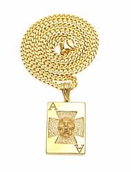 cheap -Men's Stylish / Cuban Link Pendant Necklace / Chain Necklace - Stainless Cross, Skull Unique Design, European, Hip-Hop Gold, Silver 60 cm Necklace 1pc For Street, Club