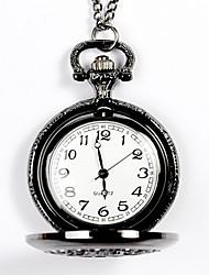 Недорогие -Муж. Карманные часы Кварцевый Нержавеющая сталь Бронза С гравировкой Аналоговый Мода - Черный